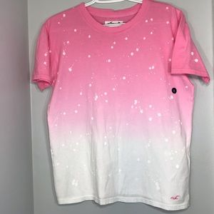 Hollister Tops - 🆕NWT Hollister pink ombré distressed tee